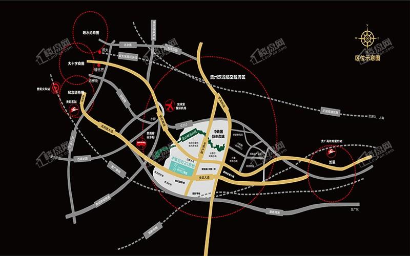 中鐵·摩都娛購公園位置圖