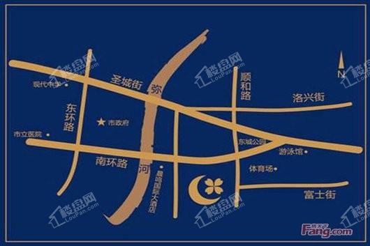 玉兰园交通图
