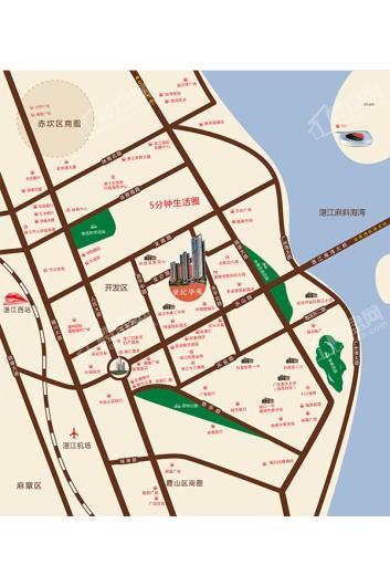 世纪华苑交通图