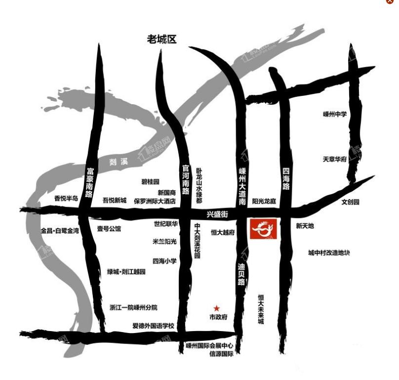 中国越剧艺术城位置图