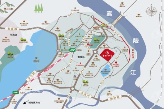 竞发·岩湾六十九号交通图