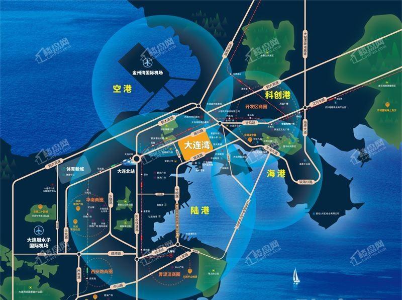 华润大连湾位置图