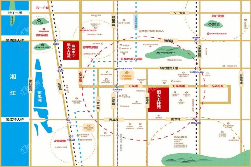 恒大上林苑位置图