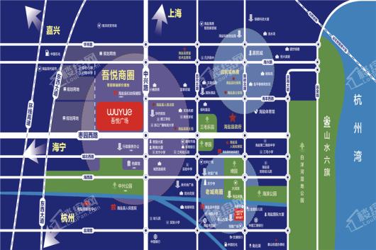 海盐吾悦广场区位图