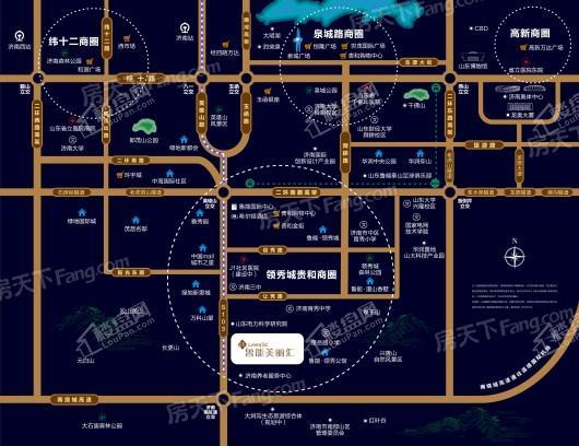 鲁能美丽汇交通图