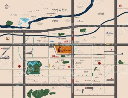 路劲中心交通图