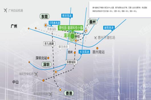 碧桂园潼湖科技小镇·创新小镇交通图