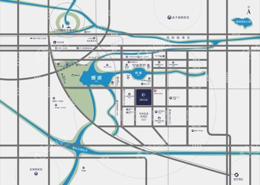 绿城明月滨河交通图