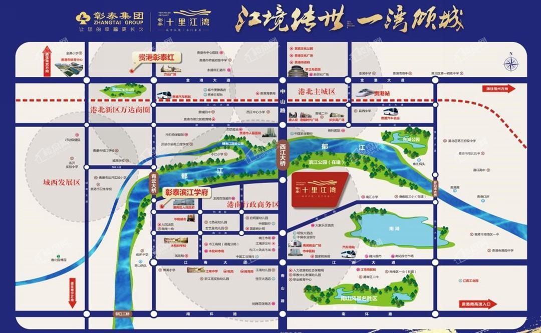 彰泰·十里江湾位置图
