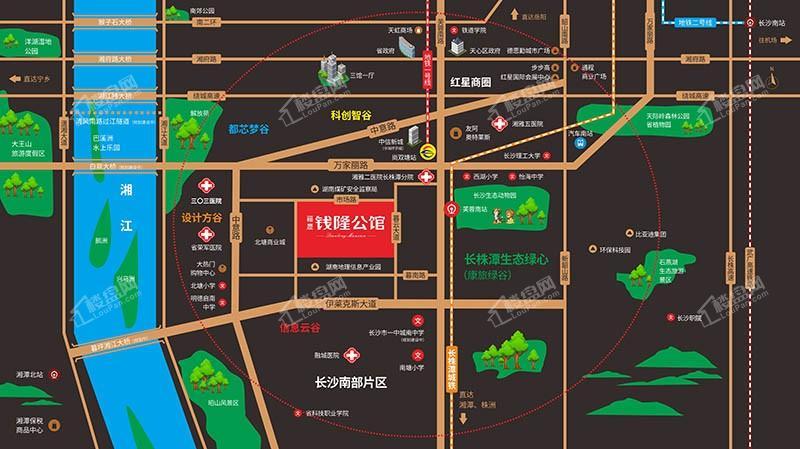 福晟·钱隆公馆位置图