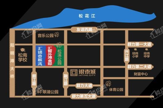 汇智金邸交通图