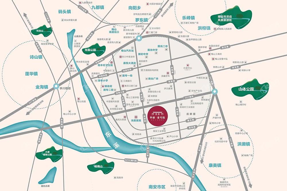 华创壹号院位置图