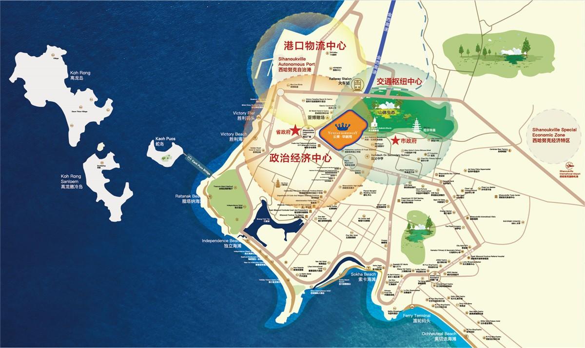 云柬华融湾位置图