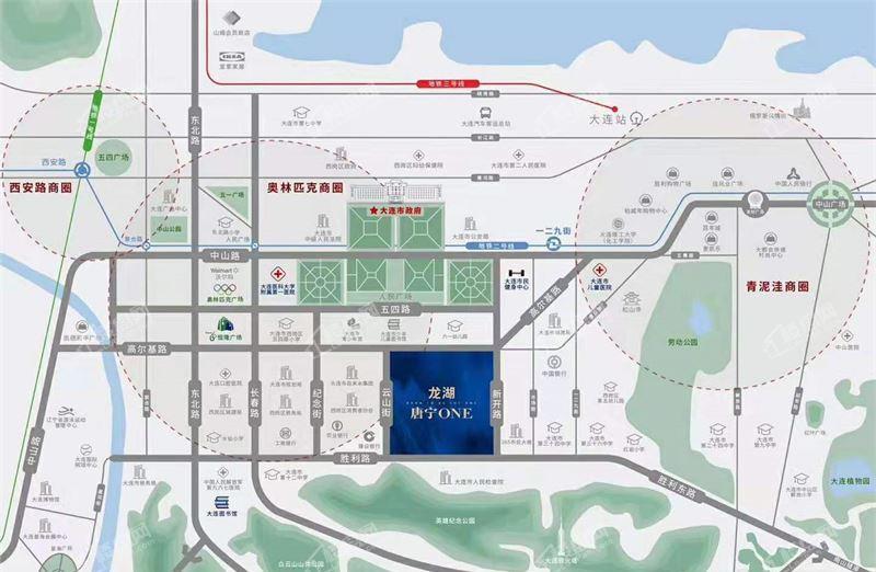 龙湖唐宁ONE位置图
