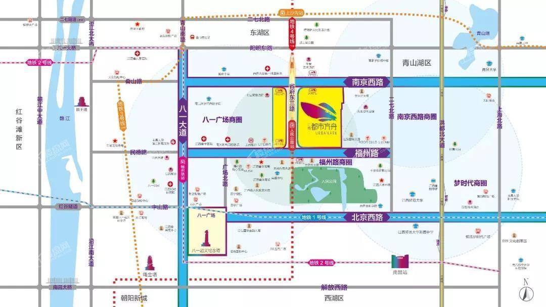 江旅都市方舟位置图