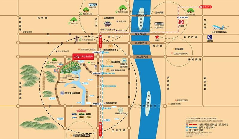 长沙恒大半山悦府位置图