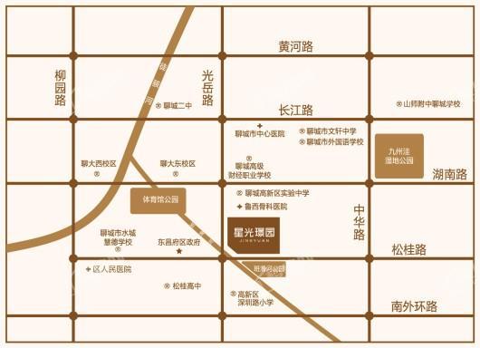 星光·璟园交通图