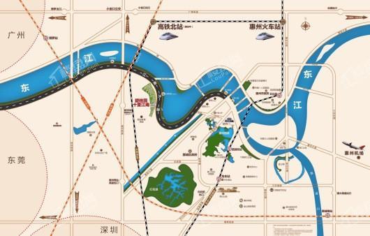 碧桂园十里江南交通图