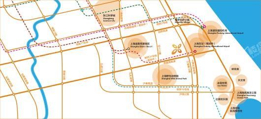 昊梦想谷交通图