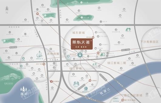 龙湖葛洲坝景粼天著交通图