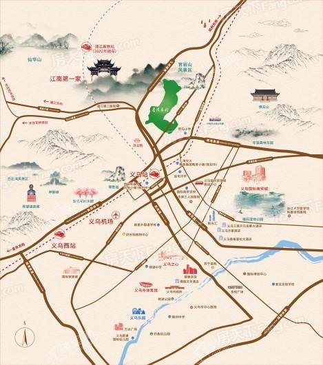 蓝城春风长住交通图