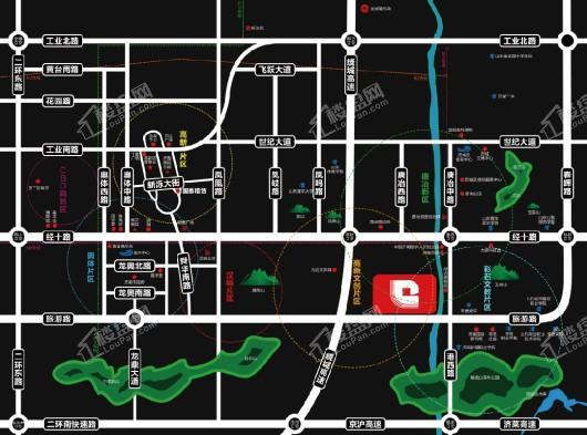 国泰财智广场交通图