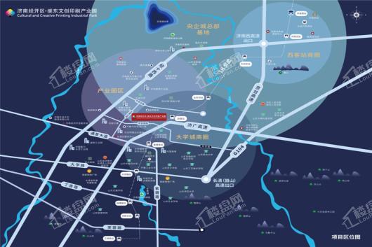 济南·继东文创印刷产业园交通图