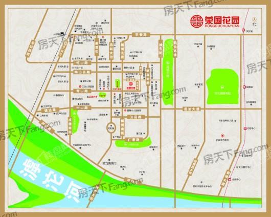 正定荣国花园交通图