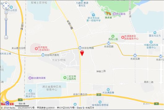 中粮光谷祥云悦墅交通图