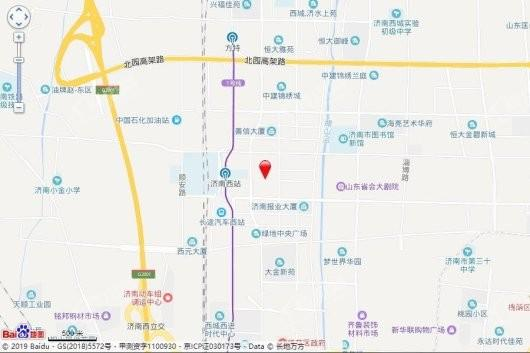 绿地·济南城际空间站交通图