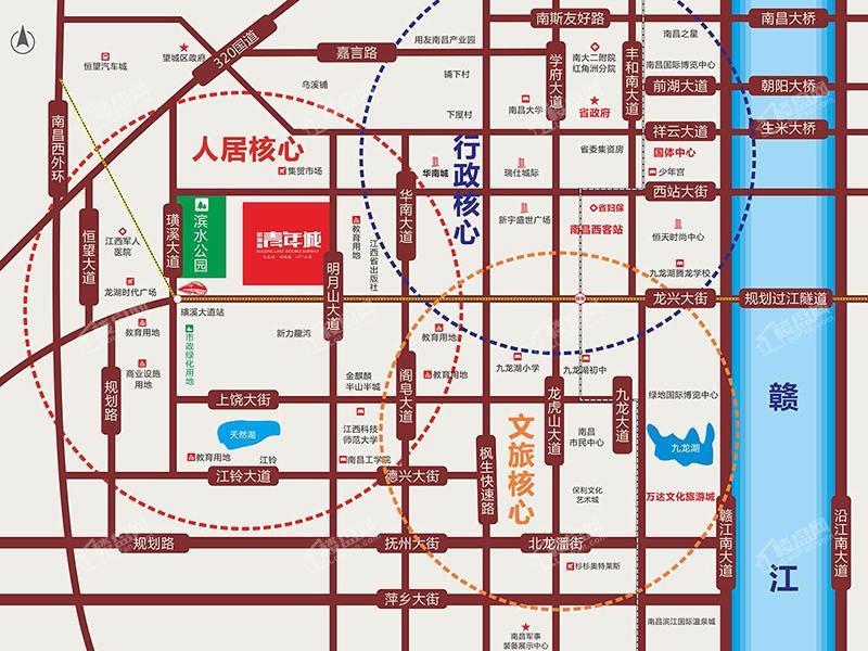 金地源·青年城位置图