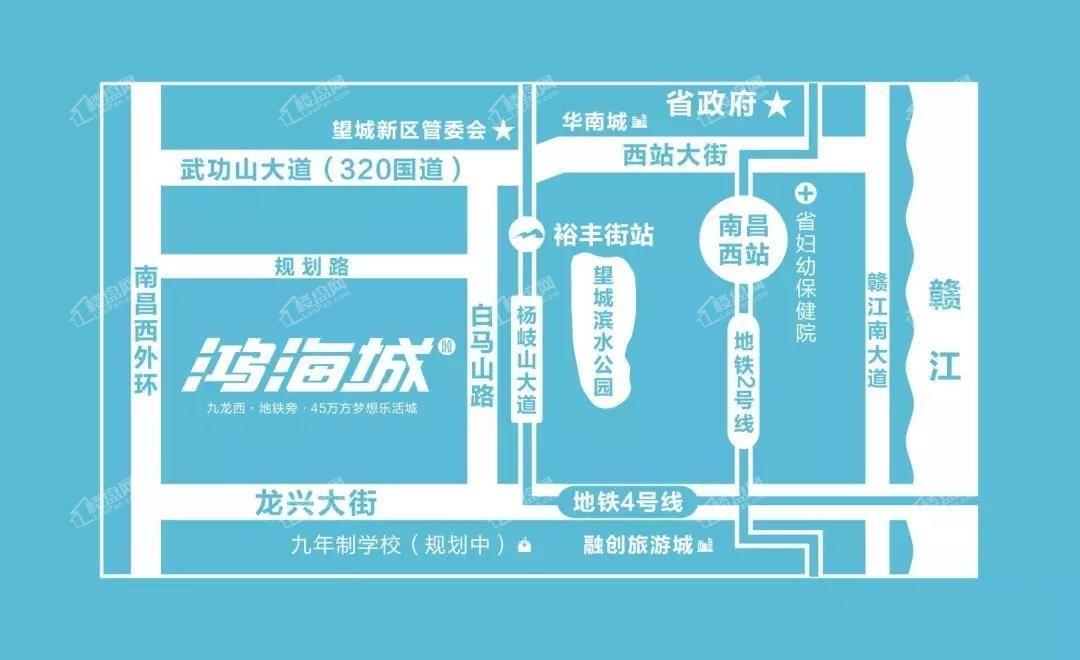 鸿海城位置图