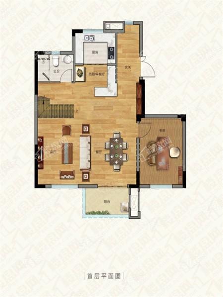 别墅户型3, 叠加别墅, 建筑面积约150.00平米