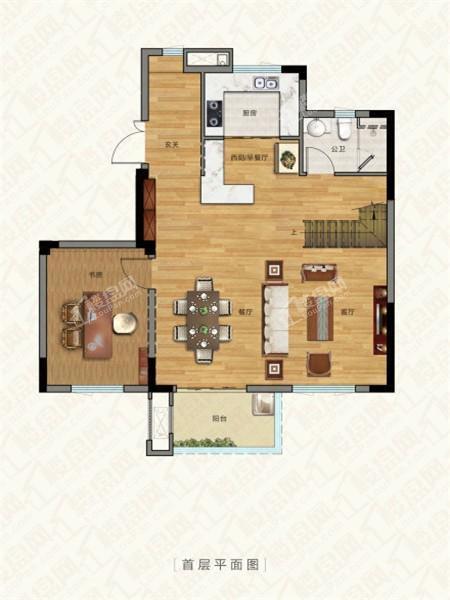 别墅户型4, 叠加别墅, 建筑面积约150.00平米