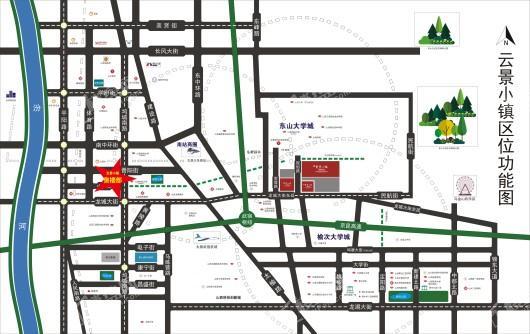 中格·云景小镇交通图