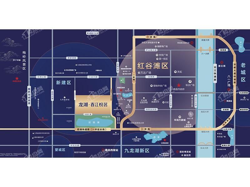 龙湖春江悦茗位置图