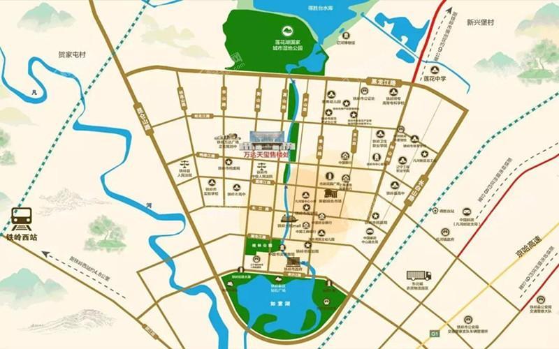 铁岭万达广场天玺位置图