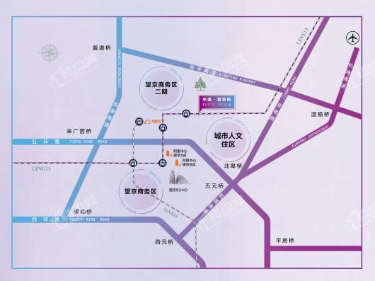 中海·望京府交通图