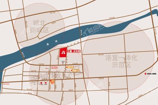宏矗龙铂郡交通图