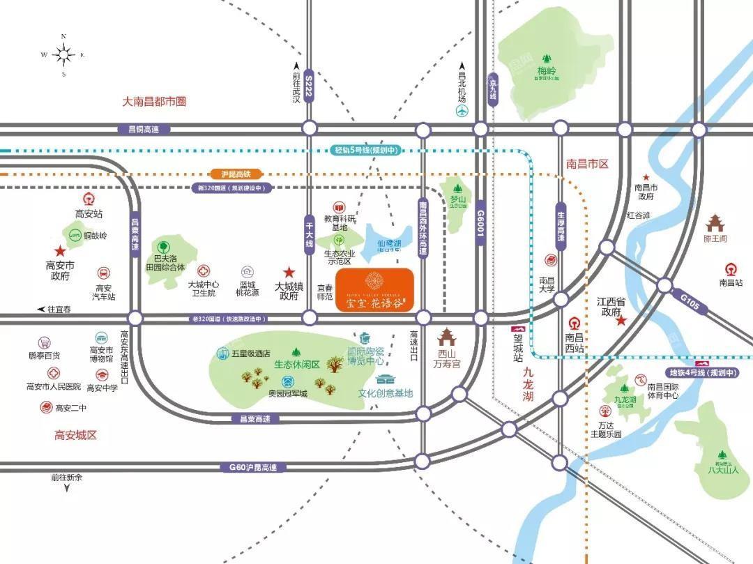 宝宜花语谷位置图