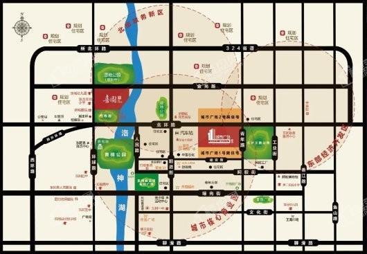 鲁商城市广场交通图