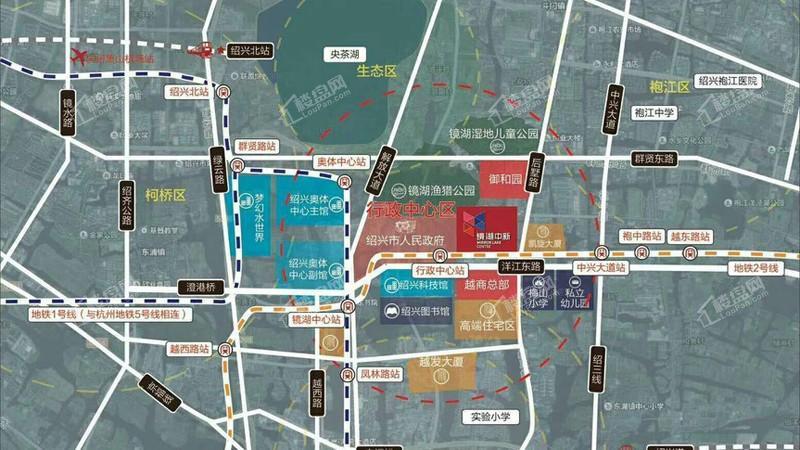 镜湖中新广场位置图
