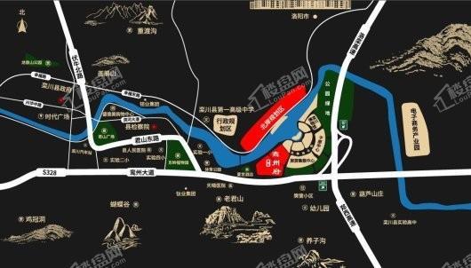 洛阳建业鸾州府交通图