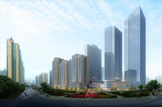 恒大悦湖商业广场效果图