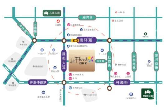 华宇百花谷交通图