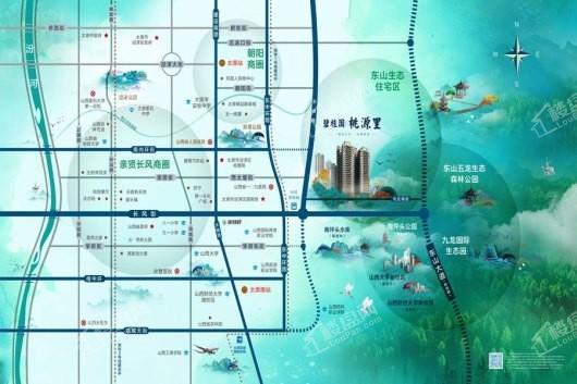 碧桂园桃源里交通图