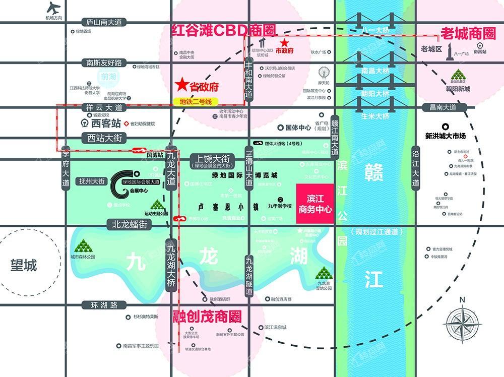 绿地国博滨江公馆位置图