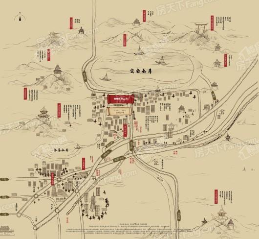 阳光城·溪山悦交通图