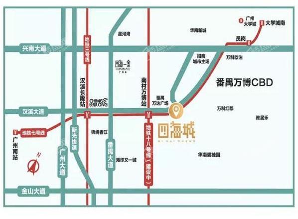 四海城位置图