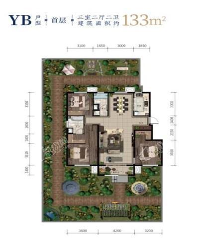 西江月洋房133平3室2厅2卫